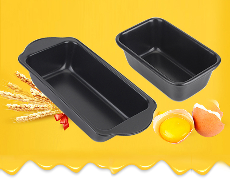 "7""10""carbon steel bread loaf pan-black07"