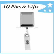 Badge Reel with Square Shape in Nickel Plating