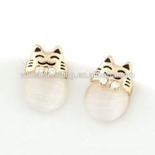 Boucles d'oreilles en opale naturel bon marché nouvelles boucles d'oreilles à la mode