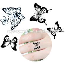 2015 Nova venda quente de ouro e prata metálica tatuagem temporária adesivo
