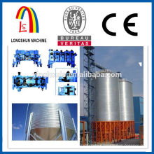 Galvanized steel silo making machine for granular material