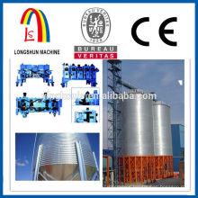 Galvanized steel silo making machine for granular material