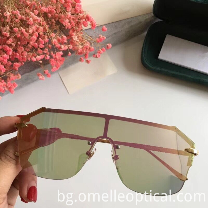 Rimless Sunglasses Pink
