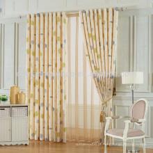 Home Decor cortina de cortina de folhas impressas Home Cortinas