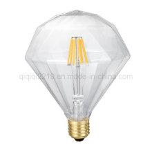Плоский Диамант 6 Вт прозрачный украшение светодиодная Лампа