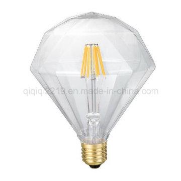 Flat Diamond 6W Transparent Decoration LED Light Bulb