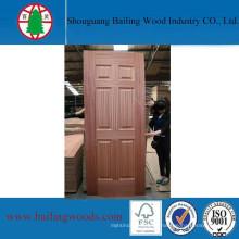 Último panel de diseño de chapa de madera de la puerta
