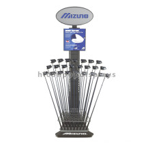 Quality Outdoor Sports Products Retail Shop Free Standing Iron Golf Club Holder Display Rack