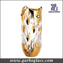 Vase en verre décoré en or (GB1512YM-DN)