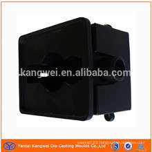 CNC aluminum black powder coating part