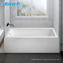 Seawin Hotel Adult Sitting Soaking Bath Fiberglass Acrylic Bathtub Walk In
