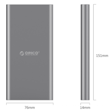 ORICO T1 Type-C 10000mAh Power Bank peut charger l'équipement de port Type-C directement