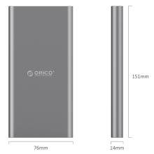 O ORICO T1 Type-C 10000mAh Power Bank pode carregar o dispositivo de porta Type-C diretamente