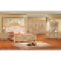 Meubles de chambre à coucher antiques avec le lit classique et la garde-robe (806A)
