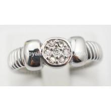 Anillos de compromiso de acero inoxidable anillos de compromiso de cristal baratos para las mujeres
