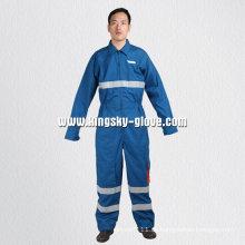 Blaue Baumwolle Anti-Flammende Gesamtkleidung-Yb1302