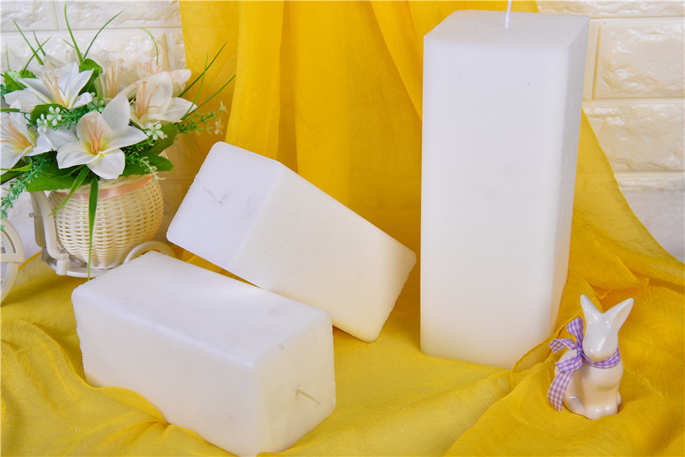 White Square Candle