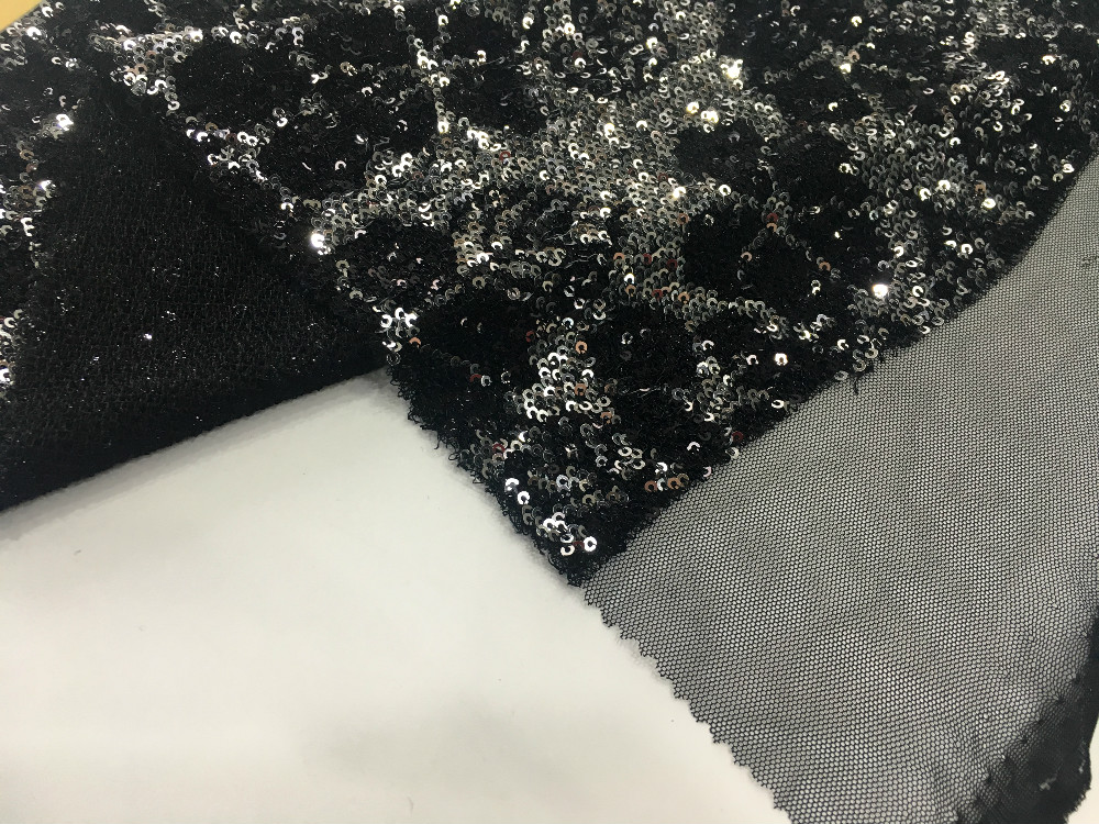 Poly Mesh Sequin Embroidery