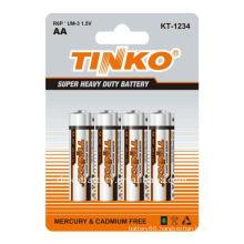 TINKO Carbon zinc battery Size AA 4pcs/card
