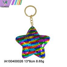Porte-clés étoile Rainbow Sequin