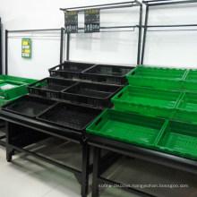 Supermarket Fruits and Vegetable Display Shelves Rack Stand