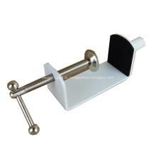 Grampo de mesa de metal revestido a pó de móveis de alta qualidade para tela de mesa em acrílico
