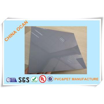 Folha de PVC cinza + 2PE para dobra a frio