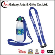 Correia de pescoço personalizada para garrafa/água garrafa titular correia de pescoço com logotipo
