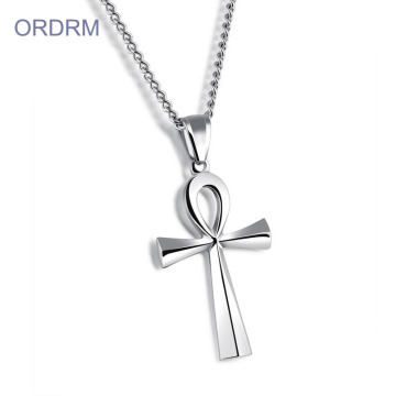 Partihandel Rostfritt stål Egypten Ankh Cross Necklace