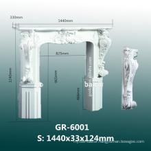 modern carved polyurethane fireplace