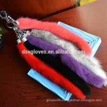 Wholesale Price Luxury Mink Fur Car Key Pendant,Mink Fur Key chain