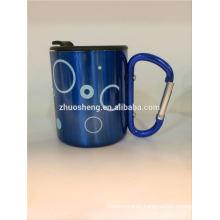 customized ceramic mug with carabiner