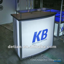 0.9m height light and collapsible aluminum reception desk