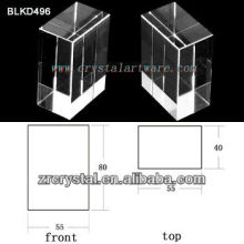 K9 Branco cristal para BLKD496 de gravura do Laser 3D