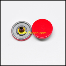 Snap button with Enamel Red color