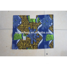 African Super Wachs Print Fabric100% Baumwolle gekämmt Stoff verschiedene Muster Linyi Factory