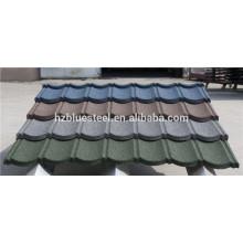 Длинная жизнь Span Stone покрытая сталь крыша плитка для продажи, хорошее качество и цена камень покрыты крыши лист аксессуаров