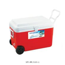 Refrigerador isolado plástico 60L do lazer da roda da caixa do refrigerador de gelo