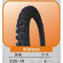 padrão cruzado fora do pneu da motocicleta da estrada 3.00-18 Escolha da qualidade