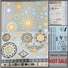 2016 Promocional Tatuaje Metálico No Tóxico Oro y Plata Tatuaje Temporal etiqueta YS030