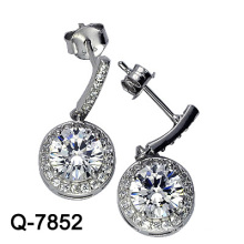 Derniers styles Boucles d'oreilles en perles cultivées en argent 925 (Q-7852. JPG)