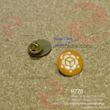 Siebdruck Messing oder Eisen Runde Kreis benutzerdefinierte Metall Pin Abzeichen
