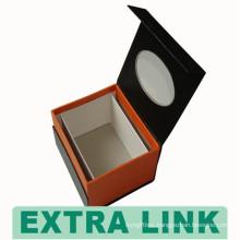 Rigid environmental kraft paper material magnetic die cut pvc windows soap packaging box