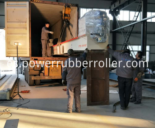 Auto Rubber Roller Grooving Machine