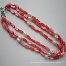 Daking 3 строки красный ожерелье, ювелирные изделия