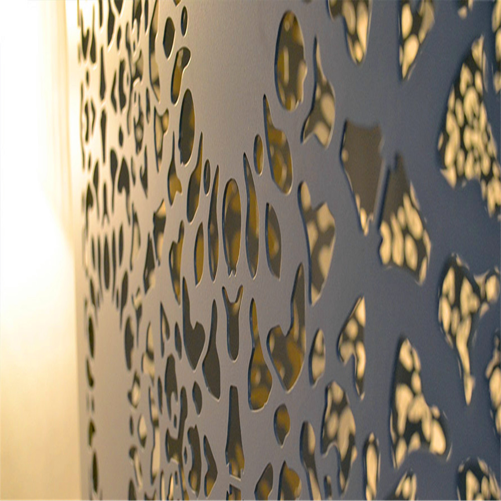 Pantalla decorativa de metal perforado