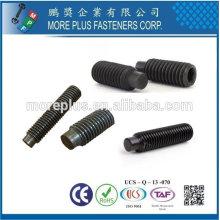Taiwan Stainless Steel DIN915 ISO4028 roue de moto de voiture avec point de chien Vis à six pans creux