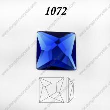 Cristal cuadrado de cristal de la joyería de piedra de cristal para accesorios de collar