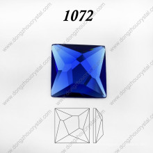 Square Glass Crystal Jewelry Crystal Stone for Necklace Accessories