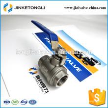 JKTL2B004 manufacture 2 piece float teflon stainless steel 1.5 inch ball valve